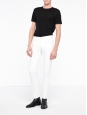 White cotton denim straight cut jeans Retail price €145 Size 33