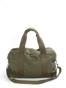 Khaki green cotton-canvas weekender bag NEW Retail price €225
