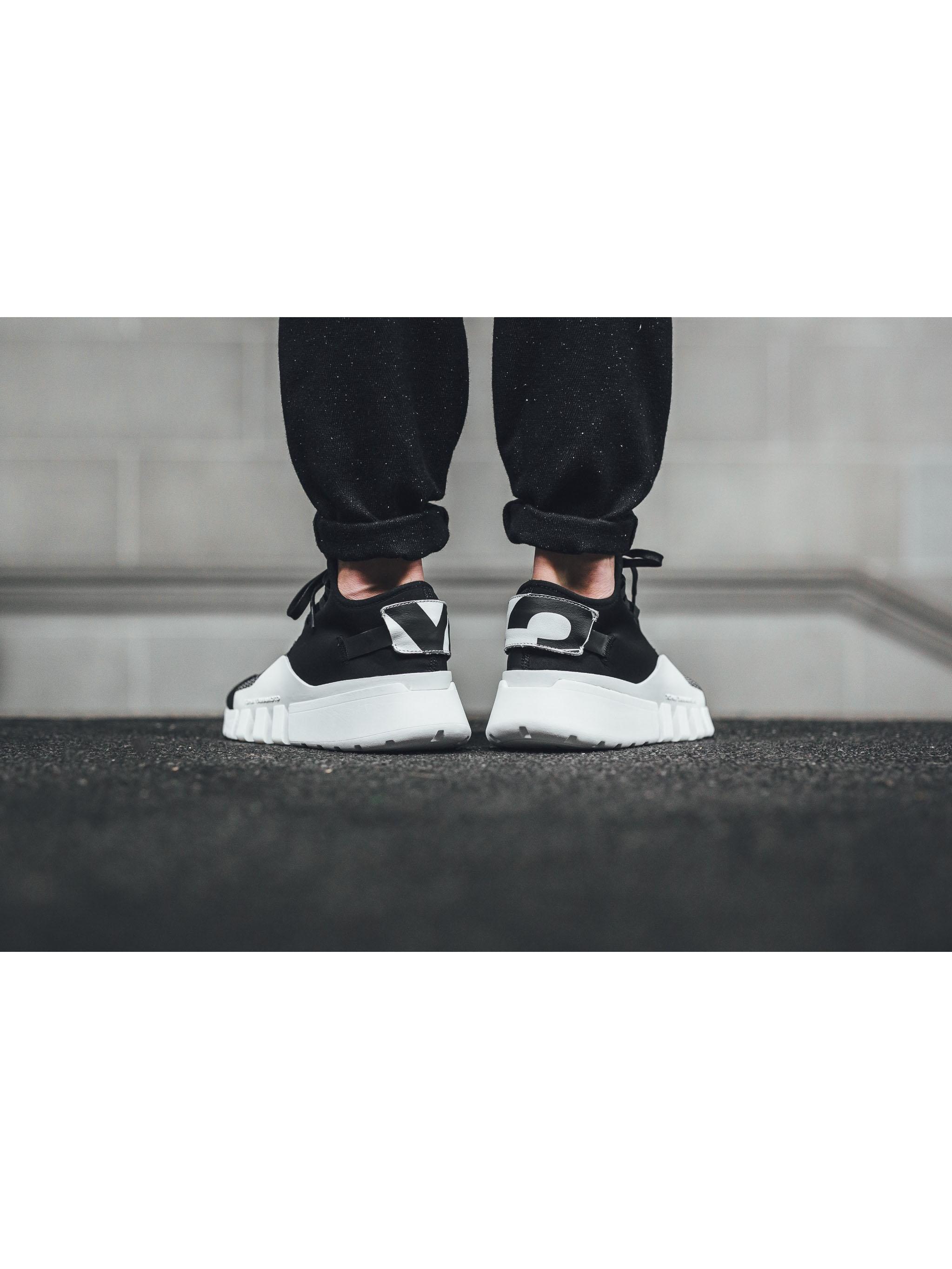 Louise PARIS Adidas y 3 en blanco y negro de neopreno y malla Ayero