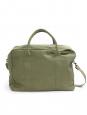 Sac weekend en toile de coton vert olive NEUF Prix boutique 225€