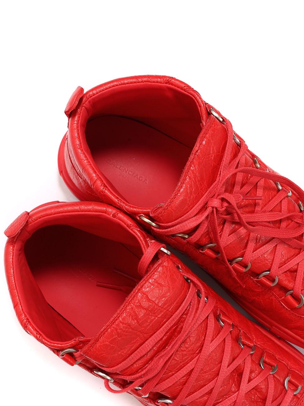 Louise Paris BALENCIAGA ARENA Red leather sneakers Retail