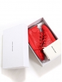 ARENA Red leather sneakers Retail price $645 Size 44
