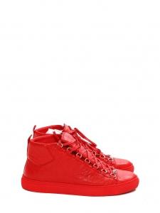 Baskets hautes ARENA en cuir rouge Prix boutique 445€ Taille 44