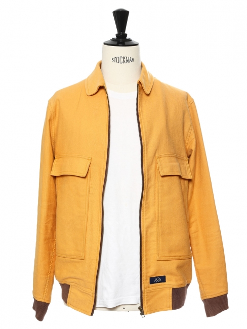Orange yellow light cotton teddy jacket Retail price €205 Size M