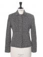 Heather grey virgin wool tweed jacket Retail price €400 Size 38