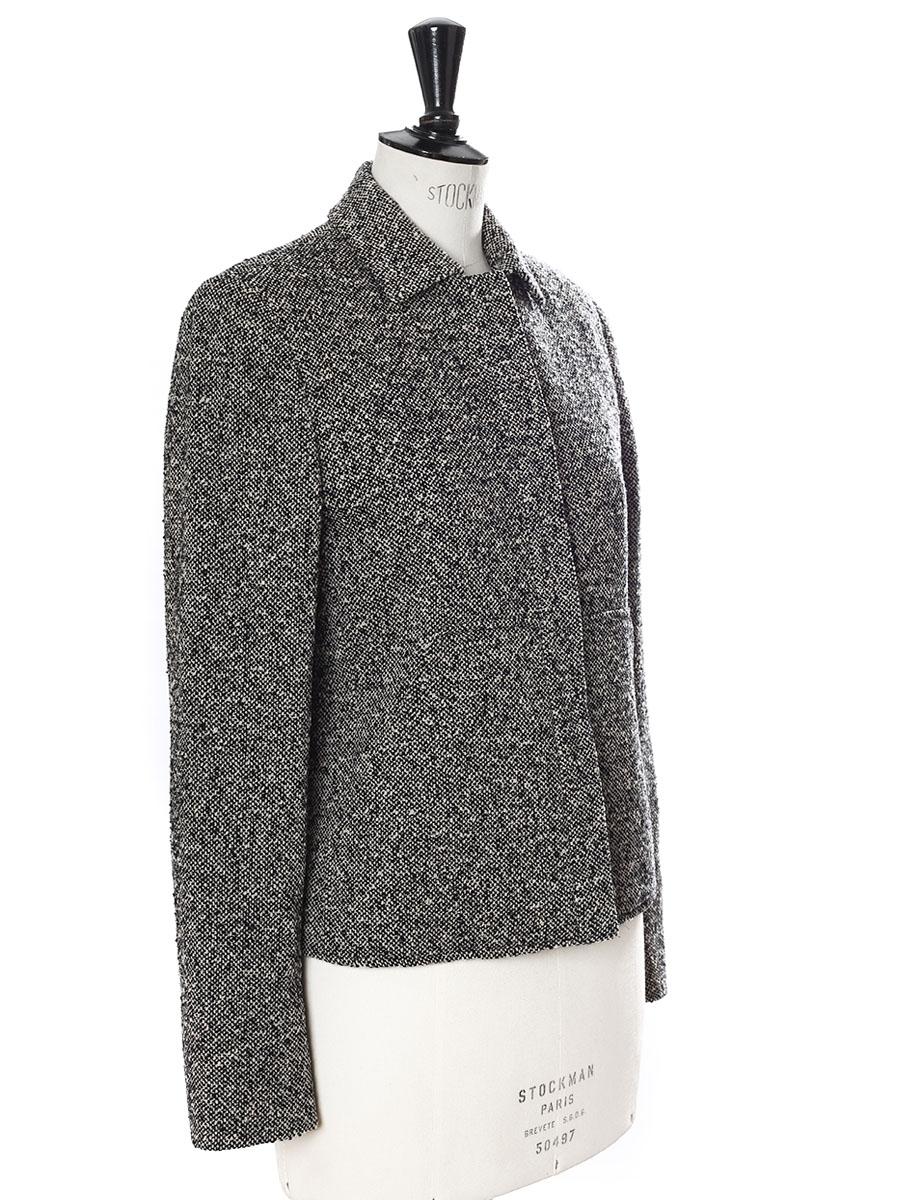 louise paris max mara veste en tweed de laine gris chin prix boutique 400 taille 38. Black Bedroom Furniture Sets. Home Design Ideas