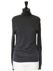 Anthracite grey merino wool turtleneck sweater Retail price €280 Size M