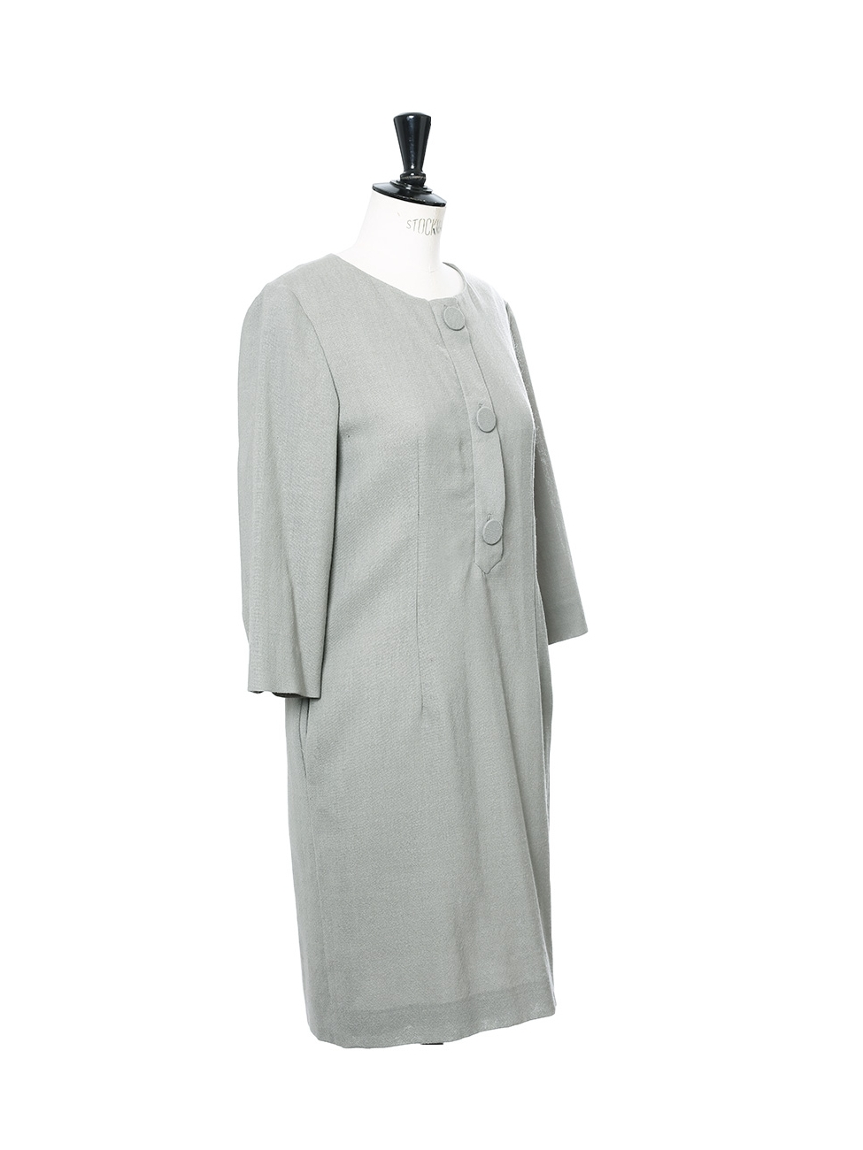 39d63f85a9c4 Louise Paris - CHLOE Light khaki green wool and silk dress NEW Retail price  €1100 Size 40