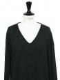 Pull col V en laine vert sombre Prix boutique 490€ Taille 40