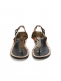 Khaki bronze leather CIRCUS MAXIMUS flat sandalsRetail price €480 Size 37