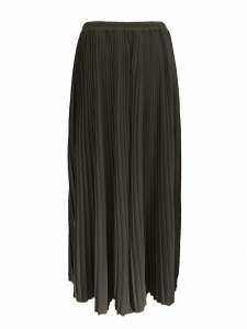 Khaki green pleated chiffon NELLI maxi skirt Retail price €305 Size 40