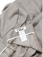 Jupe plissée en laine gris grège Prix boutique 900€ Taille 40