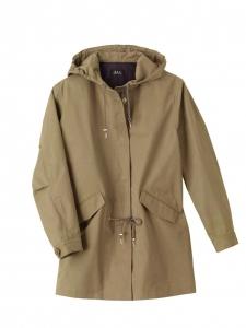 Khaki beige cotton gabardine MOD parka Retail price €375 Size S