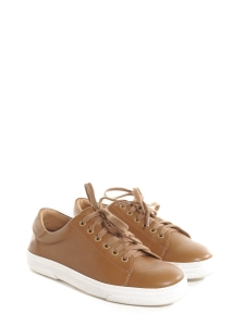 Camel brown leather STEFFI sneakers Retail price $355 Size 38