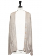 Light beige silk cardigan Retail price €700 Size 38