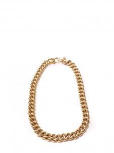 Collier chaîne épaisse dorée
