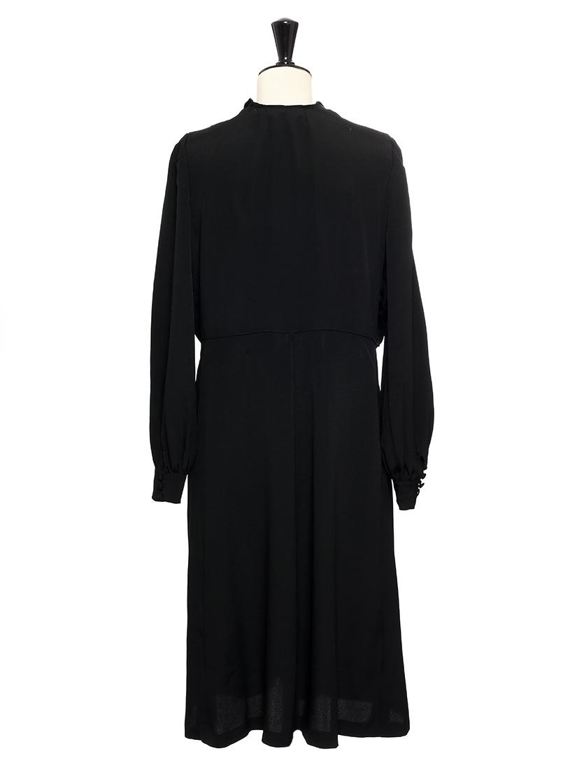 louise paris vintage robe longue noire et boutons soleil taille 40. Black Bedroom Furniture Sets. Home Design Ideas