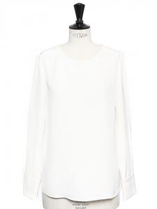 Ivory white silk ANISE blouse Retail price €370 Size 40