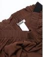 Jupe boule en soie mélangée marron chocolat Prix boutique 900€ Taille 38