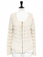 Ecru heavy knitted cotton zipped cardigan Retail price €170 Size S