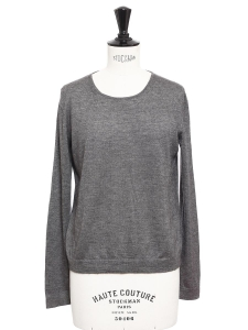 Heather grey silk and cashmere sweater Retail price €900 Size 36