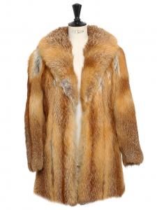 Manteau en fourrure de renard roux Taille 36