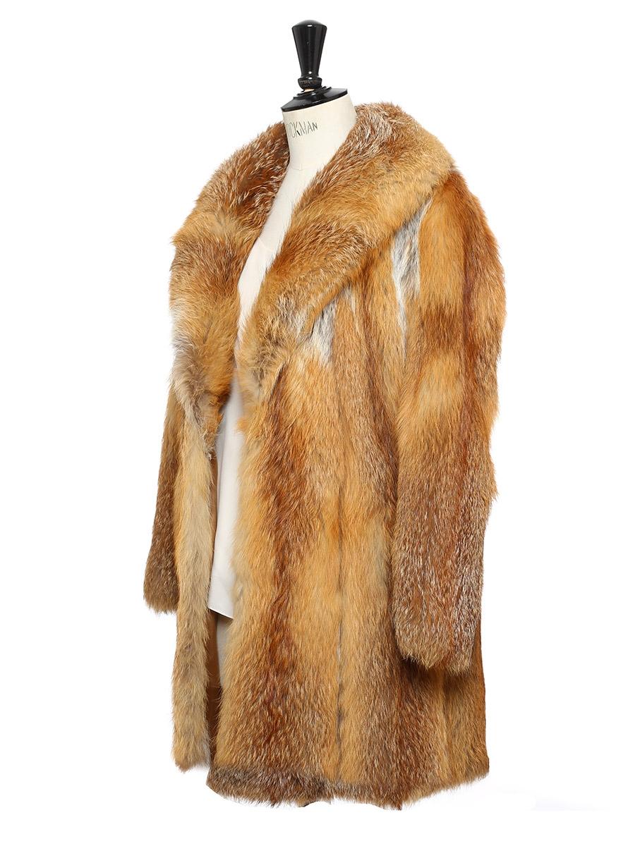 louise paris vintage manteau en fourrure de renard roux taille 36. Black Bedroom Furniture Sets. Home Design Ideas