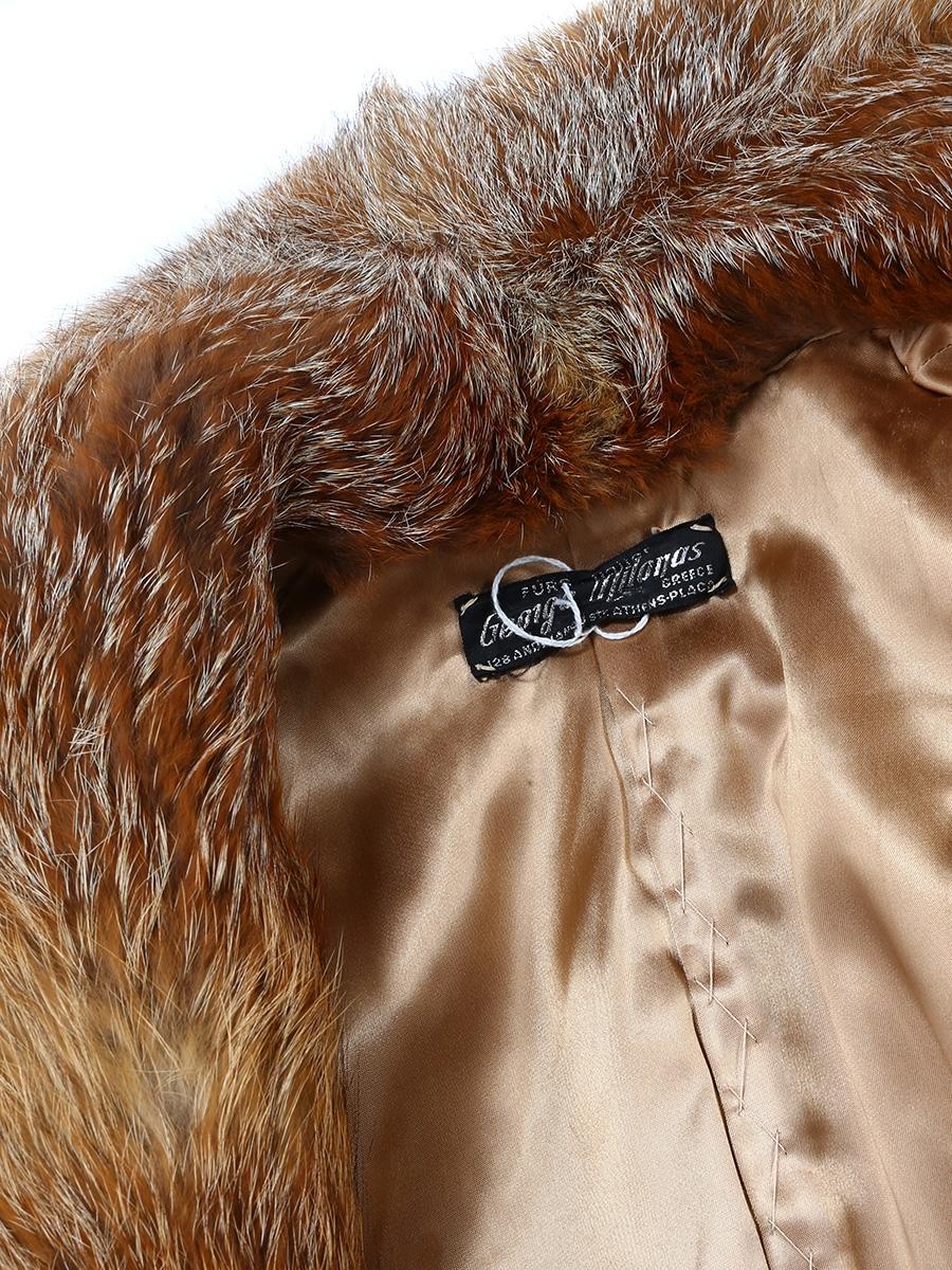 4652ddcf6b7 En De Taille Louise Vintage Manteau Renard Fourrure 36 Paris Roux t66XxqwU4
