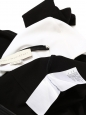 Black and white heart stretch jersey bodycon dress NEW Retail price €800 Size XS