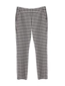 Pantalon slim GENENIS imprimé carreaux Vichy noirs et blancs NEUF Prix boutique 320€ Taille 38