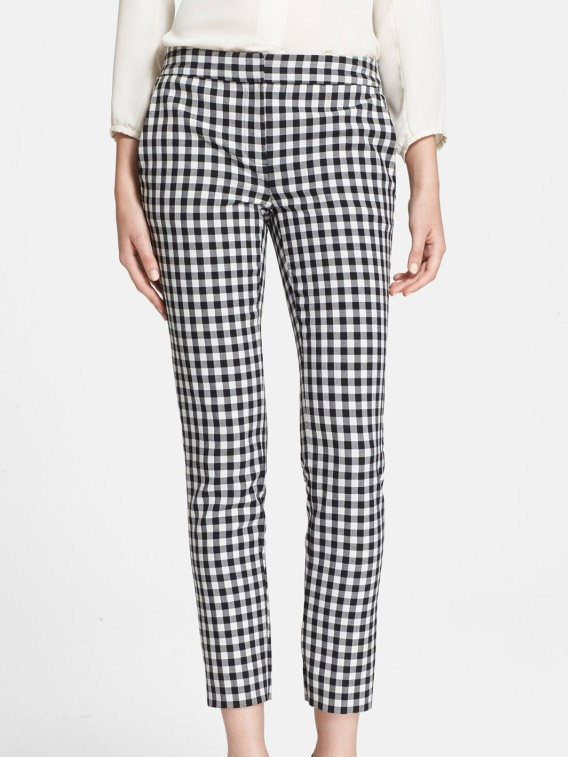 f68c264a26bf62 ... GENESIS black and white gingham print slim fit pants NEW Retail price  €320 Size 38 ...