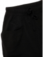 Black cashmere, silk and wool sweatpants Retail price €200 Size S