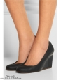 Black leather wedge pumps Retail price €425 Size 39