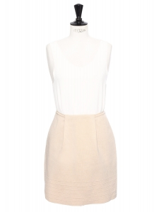 Pink beige jersey A-line skirt Retail price €800 Size 38