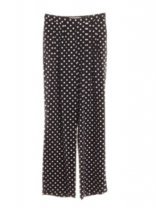 Black and white polka dot crepe wide-leg pants NEW Retail price €175 Size S/M