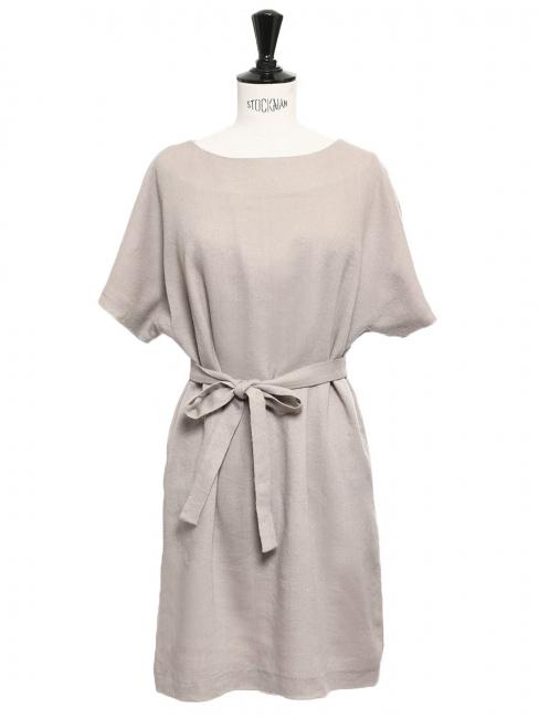 5f723714c2b Robe manches courtes en laine et soie beige Prix boutique 1100€ Taille 36