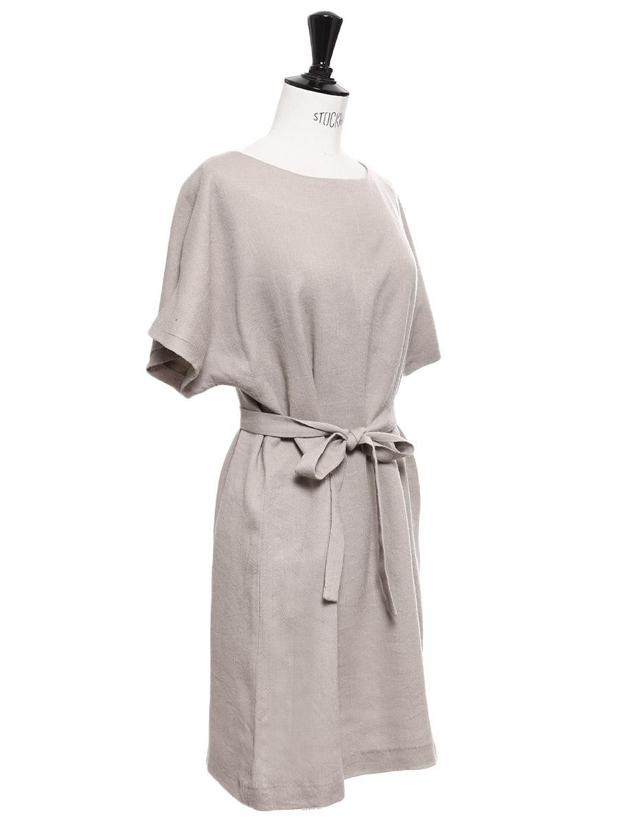 ... Robe manches courtes en laine et soie beige Prix boutique 1100€ Taille  36 ... 55977bfeacd