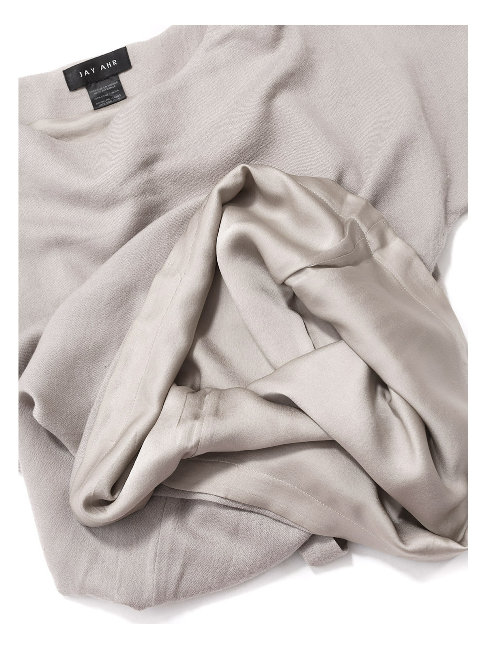 Louise Paris - JAH AHR Robe manches courtes en laine et soie beige Prix  boutique 1100€ Taille 36 4a570fae38c