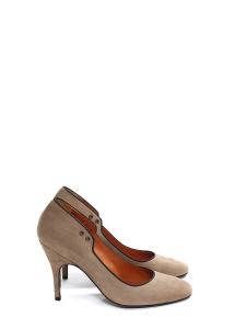 Nutmeg brown suede leather almond toe pumps Retail price €500 Size 38