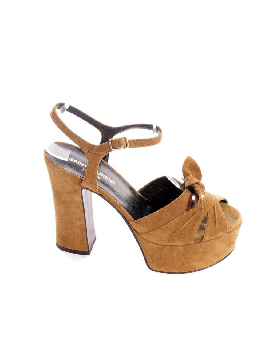 db02d279ab24 ... CANDY Black leather wooden platform sandals Retail price  895 Size 38  ...