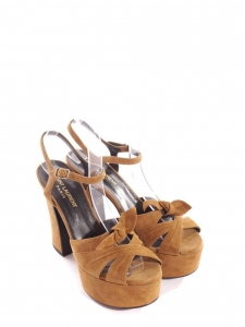 CANDY Black leather wooden platform sandals Retail price $895 Size 38