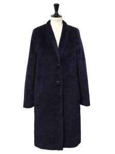 Manteau CARRERA Teddy Bear en alpaga et laine vierge bleu nuit Prix boutique 999€ Taille 38