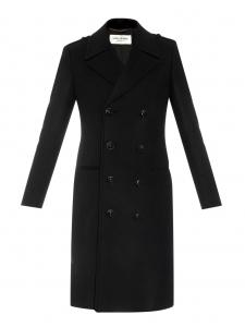 Manteau caban long à double boutonnage en laine noire Prix boutique 2990€ Taille XS