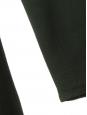 Robe manches longues en crêpe vert forêt à pompons dorés Px boutique 1268€ Taille 38