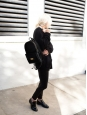 Sac à dos BECKETT noir en faux cuir eco-friendly Prix boutique 1050€