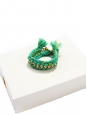 DO BRASIL gold-plated chain braided with emerald green cotton cuff Retail price €250