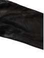 Black lambskin leather high waisted slim fit pants Retail price €2000 Size 38/40