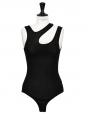 ASTOR Black cutout ribbed jersey bodysuit NEW Retail price €125 Size XS