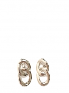 Silver-tone interlocking hoop earrings Retail price €150