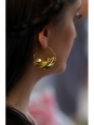 Gold-plated Peul Fulani tribal mono earring